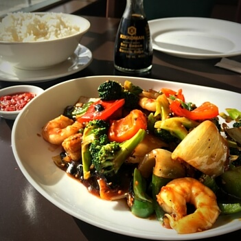 Prawns in Black Bean-Mekong Restaurant Menu
